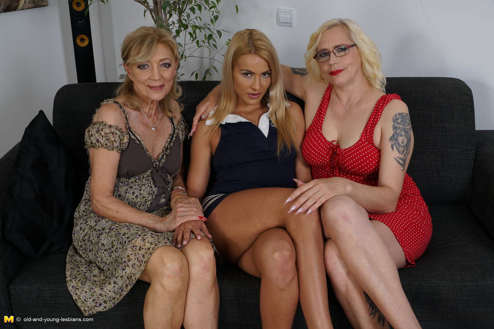 three naughty old and young lesbians make it wild - pussyfur